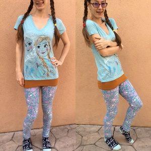 Disney Tops - Disney Frozen Anna & Elsa Blue Tee